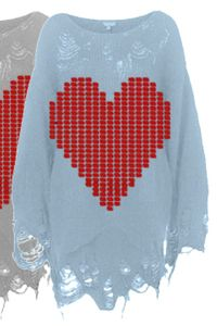 Wildfox White Label Bianca Jagger Lennon Sweater in Sky Blue