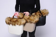 8f16c6d04d All with Murmasky Natural Faux Fur Trim OBMTFF05 1) Ivory Mini OBMB51 +  Shiny Tobacco