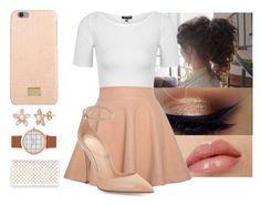 """""""there she goes...."""" by yanniixo ❤ liked on Polyvore featuring Topshop, Relaxfeel, Dolce&Gabbana, Gianvito Rossi, Christian Louboutin, white and nude"""