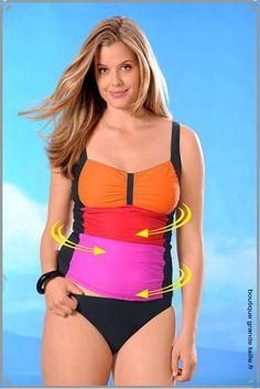 Tankini gainant, maintien de la poitrine et du ventre mode femme taille maximum 50. Tankini, Haut Bikini, Women Bikini, Sexy Women, Swimwear, Fashion, Two Piece Swimsuits, Plus Size Swimwear, Full Figured