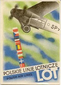 Luggage label for Lot - Polskie Linje Lotnicze, Polish Air Lines, circa Vintage Travel Posters, Vintage Airline, Poster Vintage, Retro Vintage, Luggage Labels, Art Deco Posters, Art Deco Period, Aviation Art, Art Deco Fashion