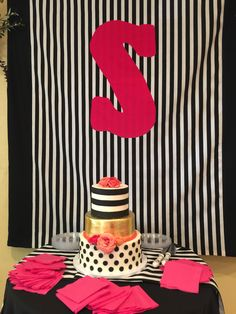 Three tiered lemon, strawberry and chocolate cake for a bridal shower. Winery Bridal Showers, Chocolate Cake, Minnie Mouse, Strawberry, Lemon, Cakes, Chicolate Cake, Chocolate Cobbler, Chocolate Cakes