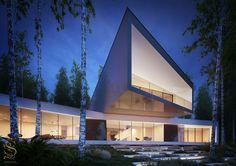 Futuristic Residence on Behance