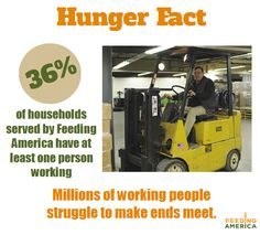 Hunger affects 1 in 6 people in America.