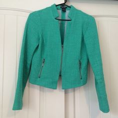 STOOSH mint green tweed blazer Great condition! Like new. From Nordstrom; brand is STOOSH Stoosh Jackets & Coats Blazers
