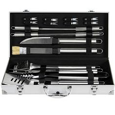 Best Choice Products 19pc Stainless Steel BBQ Grill Tool Set With Aluminum Storage Case - http://grills.nationalsales.com/best-choice-products-19pc-stainless-steel-bbq-grill-tool-set-with-aluminum-storage-case/