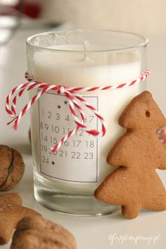 Advent calendar or countdown candle one each hour until christmas eve