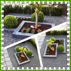 Vorgarten - All For Garden Landscaping Around Trees, Front Yard Landscaping, Landscaping Ideas, Front Gardens, Small Gardens, Garden Front Of House, Front Yard Design, Garden Inspiration, Landscape Design
