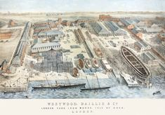 London Yard and Beyond in 1862 Milford Haven, Isle Of Dogs, East Indies, The Far Side, Old Images, River Thames, London Street, Civil Engineering
