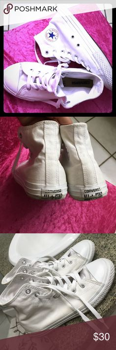 Converse all star high tops Size 3 gently used. In very good shape Converse Shoes Ankle Boots & Booties
