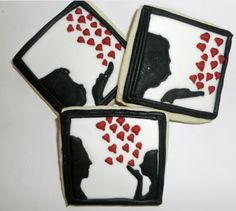 Valentine Cookies Silhouettes of Love