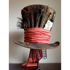 Perfect Replica of Tim Burton's Mad Hatter Top Hat Wedding Party... ❤ liked on Polyvore featuring hats
