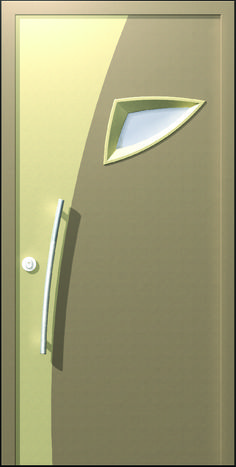 The SYDNEY door is designed in a post-modernistic style integrating arched lines with a small framed latch, reminding of the Sidney opera house. The door is characterized by an unusual look, which challenges the taste of the customre who is not interested that his front door will be similar to that of the next door neighbor.