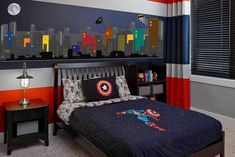 Super Hero City Wall Decal Batman Wall Decal Fabric Sticker Peel and Stick, Repositionable and Reusable Buildings Boys Room – Boy Room 2020 Chambre Nolan, Marvel Bedroom, Boys Superhero Bedroom, Superhero Room Decor, Avengers Room, Boys Bedroom Decor, Bedroom Ideas, Teen Bedroom, Boys Room Ideas