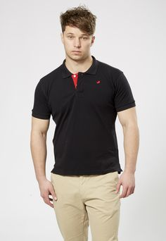 FARU Classic Polo - Black  10% of all sales goes to animal conservation.