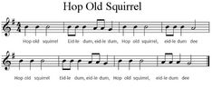 """""""Hop Old Squirrel"""" Extended! Preschool Music Activities, Movement Activities, Action Move, Piano Parts, Fast And Slow, Kids Moves, Note, Love Songs, Animal Crossing"""