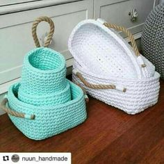 Super Ideas For Kitchen Diy Sewing Storage Crochet Bowl, Crochet Basket Pattern, Love Crochet, Diy Crochet, Crochet Crafts, Crochet Projects, Crochet Patterns, Crochet Baskets, Crochet Poncho
