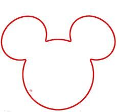 1st birthday party... basic Mickey head template. Add a bow for Minnie.