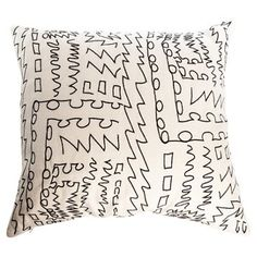 Check out this item at One Kings Lane! Kelly Wearstler Scribble Pillow