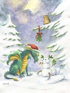 Christmas Love Dragon by Heidi Buck
