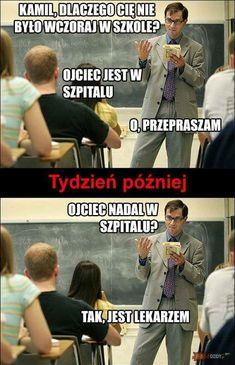 Trendy w kategoriach humor w tym tygodniu - Poczta Wtf Funny, Funny Cute, Funny Images, Funny Pictures, Hahaha Hahaha, Polish Memes, Sad Texts, Funny Mems, Donia
