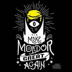 T Shirt of my Make Mordor Great Again Donald Trump LOTR Parody