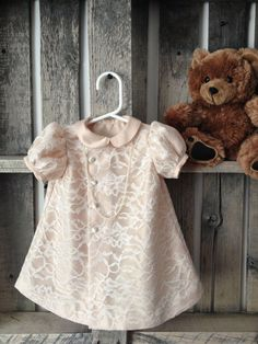 Ivory Cream Lace Baby Girl Dress on Etsy, £56.64
