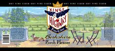 Phil illustrates for Kings Highway Cider, the Berkshire Porch Pleaser Book Publishing, Hand Lettering, Porch, Hand Painted, Illustration, Painting, Art, Terrace, Handwriting