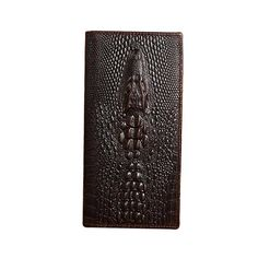 COWATHER Alligator veins cow genuine leather wallets for men high grade long male