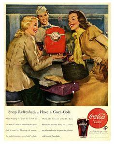 Shop refreshed...have a Coca-Cola (1948).