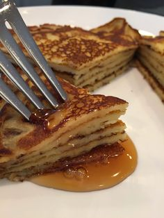 If you like pancakes that are thicker than a crepe but thinner than the usual pancake then this is the recipe for you. This super simple. Thin Pancakes, Breakfast Pancakes, Breakfast Items, Breakfast Dishes, Breakfast Recipes, Swedish Pancakes, Pumpkin Pancakes, Pancake Recipes, Breakfast Club