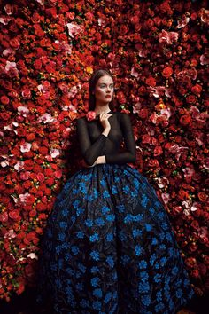 Christian Dior Haute Couture, photographed by Patrick Demarchelier, Fall/Winter 2012 Dior Haute Couture, Couture Mode, Style Couture, Couture Fashion, Patrick Demarchelier, Floral Fashion, Fashion Art, Fashion News, High Fashion