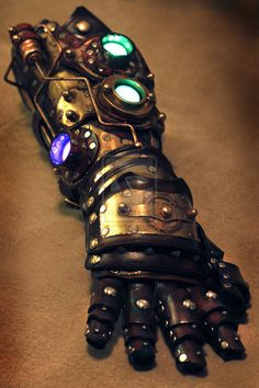 Custom made Steampunk Robot Arm gauntlet by SkinzNhydez on Etsy, $1600.00