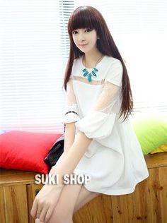 Personal Fashion Hollow Sleeve A-Line Chiffon Shirt