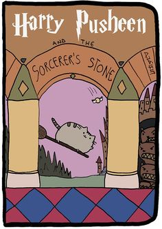 Pusheen the Cat rencontre Harry Potter : L'ecole des sorciers
