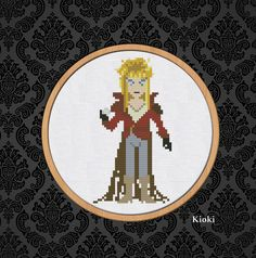 Cross Stitch Pattern Jareth the Goblin King Instant Download PDF