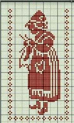 Hollandse breister possible grile crochet Cross Stitch Freebies, Cross Stitch Charts, Cross Stitch Designs, Cross Stitch Patterns, Diy Embroidery, Cross Stitch Embroidery, Embroidery Patterns, Knitting Charts, Knitting Patterns