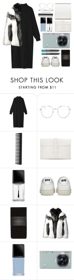 """""""The light shines in the darkness"""" by miss-magali-mnms ❤ liked on Polyvore featuring Topshop, GHD, Hermès, Illamasqua, Off-White, Zara, NARS Cosmetics, Alexander McQueen and Samsung"""