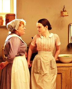 Mrs Pattmore and her assistant Daisy | More Downton Abbey photos here:  http://mylusciouslife.com/historical-style-downton-abbey-photos/