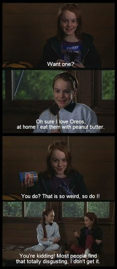 Yum!  (This movie is the reason why I started eating Oreos and peanut butter.  Best snack ever!)