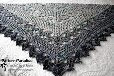 Free Crochet Pattern shawl, wrap, scarf by Pattern-Paradise.com #crochet #patternparadisecrochet #shawl #freepattern #wrap #scarf #springshowersCAL