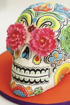 Dia de los Muertos Skull - Amazing cake by Sweet Pea on Cake Central!!
