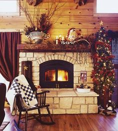 Kitchen Design Ideas | Log Cabin Christmas Kitchen — Country Woman Magazine love this its beautiful