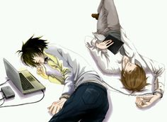 L and Light - Death Note