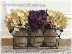 Mason Jar Wire Basket Wire Caddy Mason Jar Holder by HomespunNC