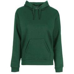TopShop Clean Hoodie (€31) ❤ liked on Polyvore featuring tops, hoodies, green hoodie, relaxed fit tops, topshop, hooded sweatshirt and green hoodies