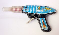 Vintage Cosmonaut Astronaut Gun Space Friction Tin Toy Part Made in Hungary | eBay