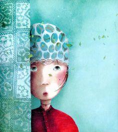 Otra preciosa ilustración del cuento ilustrado por Rébecca Dautremer Princesas olvidadas o desconocidas, escrito por Philippe Lechermeier