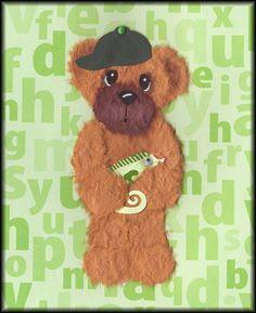 Boy Tear Bear w/ Lizard - Scrapbook.com