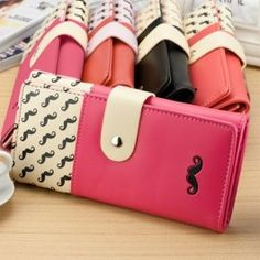 New Hot Sale Women High Quality Solid Button Leather Hand Bag Long Clutch Wallet Purse